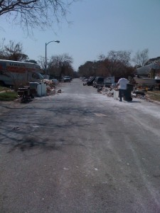 My street a month after Hurricane Ike